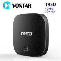 VONTAR T95D 1 그램 8 그램 안드로이드 TV 박스 록칩 RK3229 쿼드 코어 안드로이드 6.0 2 그램 16 그램 2.4 천헤르쯔