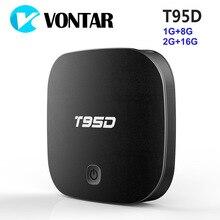 T95D Android TV Box Rockchip RK3229 Quad Core Android 6.0 BT4.0 RAM 1 GB ou 2 GB DDR3 ROM 8 GB 2.4 GHz WiFi HD Smart TV Media lecteur