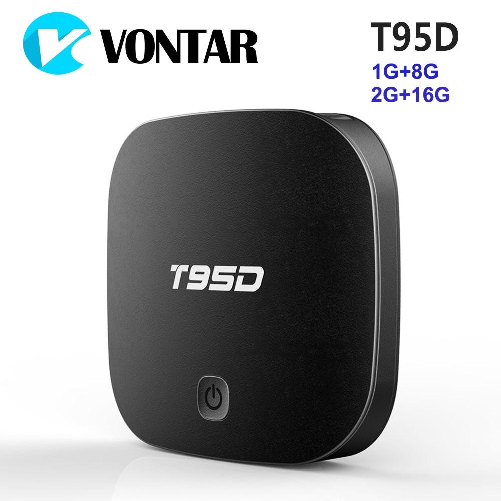 VONTAR T95D 2GB 16GB Android TV Box Rockchip RK3229 Quad Core Android 6.0 2.4GHz WiFi HD Smart TV Media Player 1GB 8GB