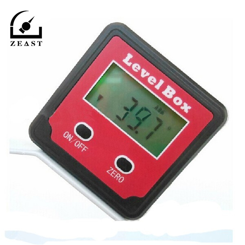 XB-90 360 Degree Precision Digital Bevel Angle Protractor Inclinometer Level Box with Magnet Base LCD Display High Accuracy dxl360s digital lcd protractor inclinometer single dual axis level box 0 01 degree