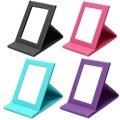 Mesa Portátil Plegable Espejo de Vanidad espejo de Maquillaje Cosméticos Espejos Con Cuero de LA PU Caso de Pie Colorido Multi Herramienta de Gran