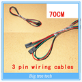 Free shipping 10PCS 70cm 3Pin 3Pin Female to Female Jumper Wire Dupont Cable for 3D Printer