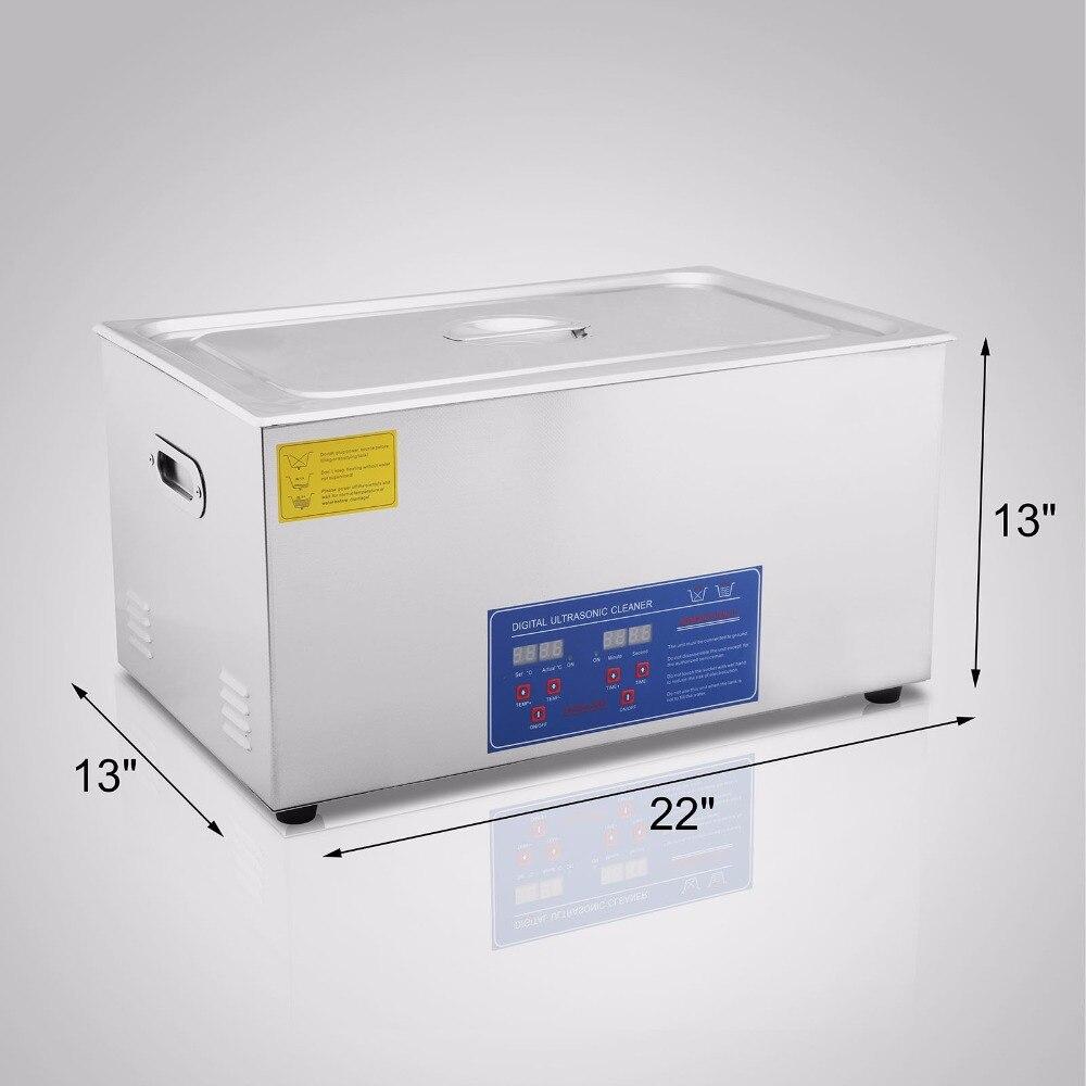 Nettoyeur ultrasonique Commercial 30L pour le nettoyage des anneaux de lunettes nettoyage ultrasonique chauffé de grande capacité