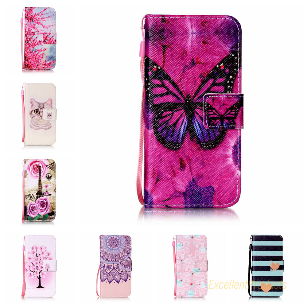 New Style 100% Special Case PU Leather Flip Phone Wallet case for Apple IPHONE 7 phone case + Lanyard Gift