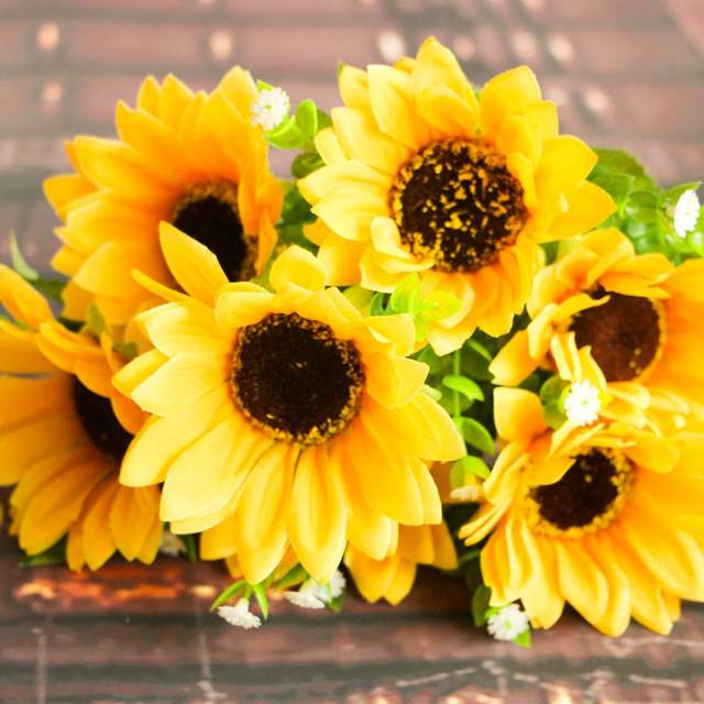 placeholder 7 Cabang 7 Kepala Bunga Buatan Bouquet Bunga Palsu Bunga  Matahari untuk Dekorasi Rumah 18f0b568b4