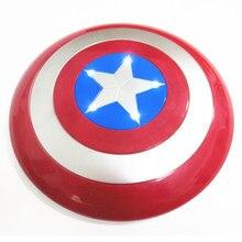 O capitão américa 32cm américa escudo luz-emitindo som cosplay propriedade brinquedo escudo plástico botão includ bateria