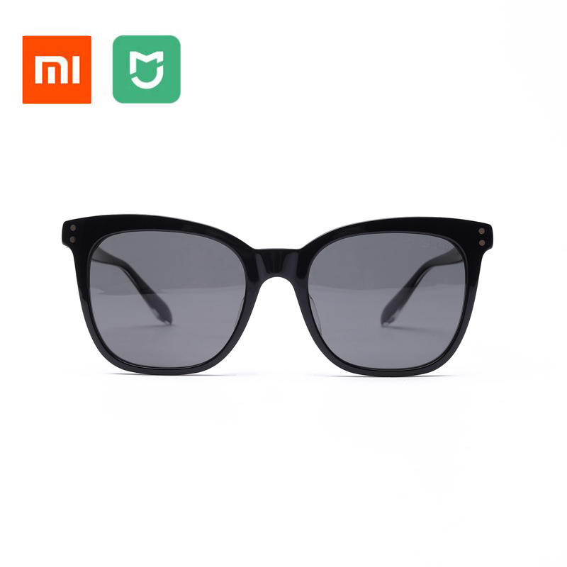 Newest Original Xiaomi Mijia TS Sunglasses Cat-eye Nylon Polarized Sun Mirror Lenses 100% UV-Proof Light For Man Woman Outdoor tshing ray fashion women rose gold mirror cat eye sunglasses ladies twin beams brand designer cateye sun glasses for female male