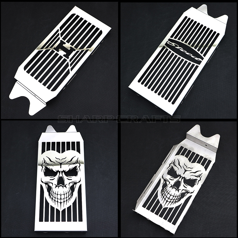 Motorcycle Steel Chrome Skull Radiator Grill Cover Guard Protector For HONDA Shadow VT600 VLX 600 Steed