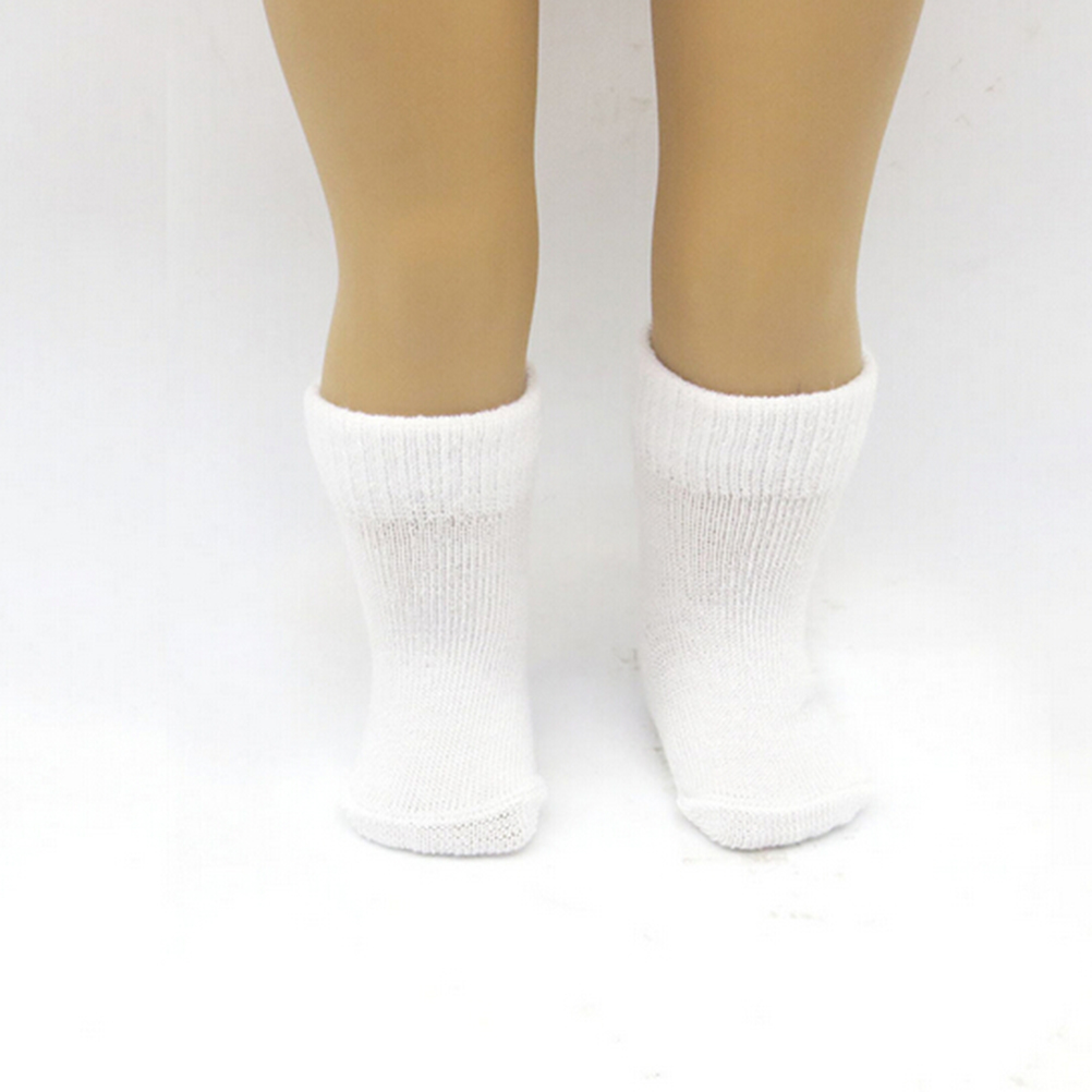 Hot new style 1pair 18 Inch Doll Socks Fits American Girl Doll Clothes More white Color