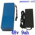 48 В литиевый аккумулятор 48 В 9ач 500 Вт ebike аккумулятор 48 В для скутера литий-ионный аккумулятор для panasonic с 15A BMS + 2A зарядным устройством