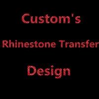 Factory Wholesale custom's Design rhinestone heat transfers rhinestone iron on patches 200pcs/lot diy garment accessories
