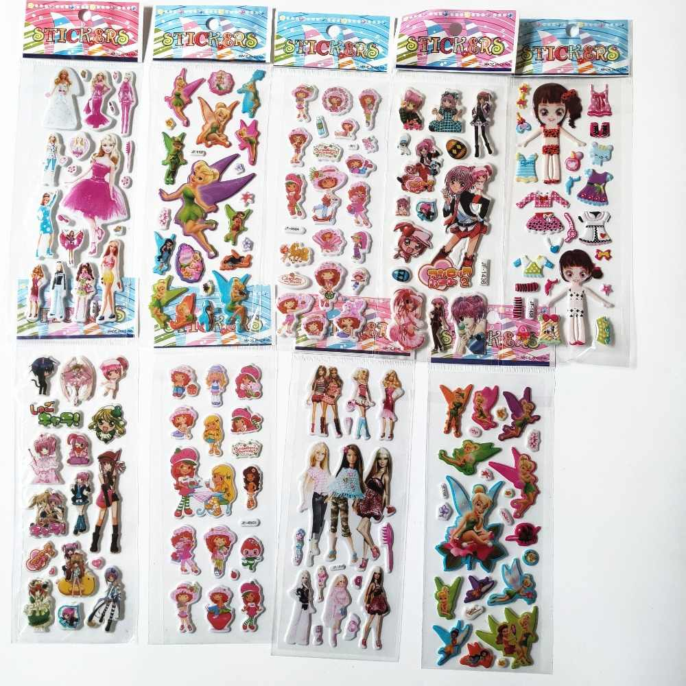 9 folhas Não Repetir Kawaii Morango Dos Desenhos Animados High Elves Fada Beleza vestir Menina Dança Inchado Etiqueta Recompensas Educação Brinquedo