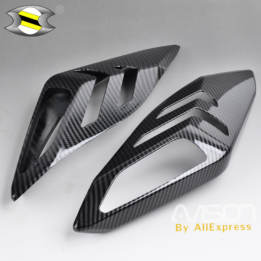 For XMAX300 Carbon Fiber Color Fix Up Light Cover Xmax 300 Xmax 250 Front Rear Turn