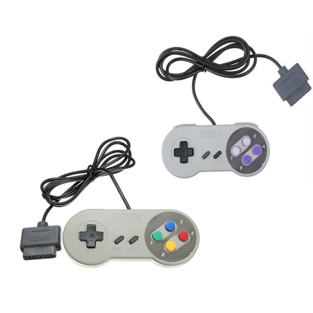 Wired game controller joystick for super nintendo sfc snes console classic portable video gaming - Super nintendo classic game console ...