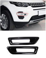 Gloss Black ABS Chrome Front Fog Light Lamp Cover Trim For Land Rover Discovery Sport 2015 2016 2017 Car Styling 2 pcs