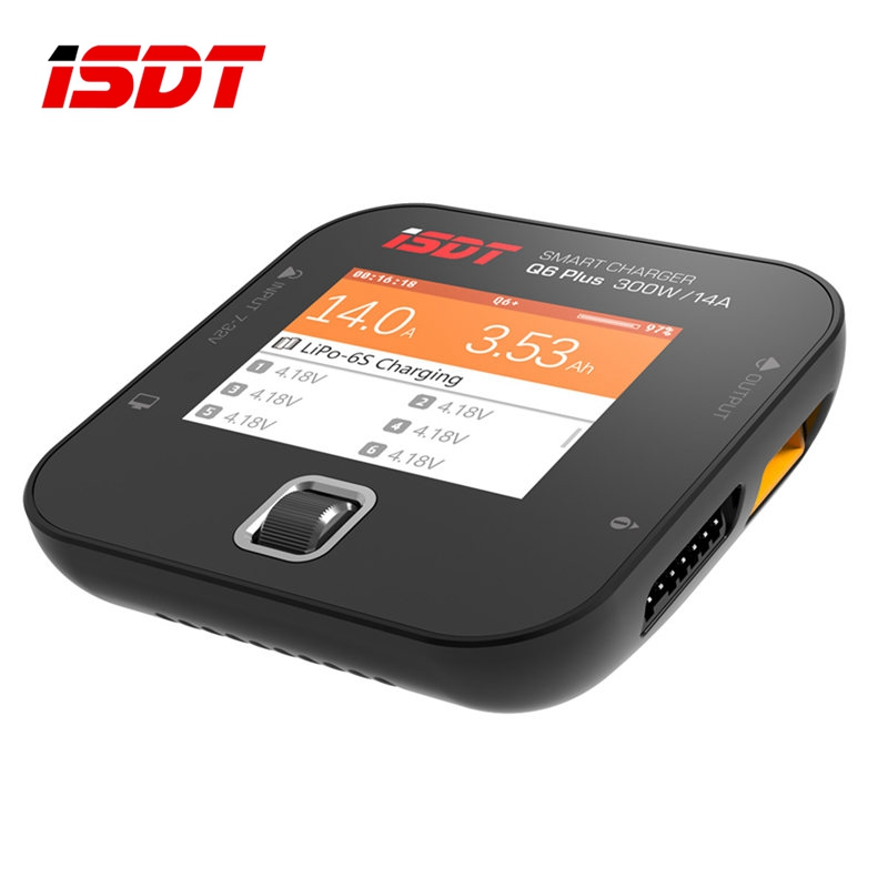 Original ISDT Q6 Plus 300W 14A MINI Pockets Lipo Battery Balance Charger for RC Battery Charging For RC Model VS T8 D2 SC-620 original ev peak d1 rc lipo battery charging for yuneec typhoon q500 intelligent balance battery charger