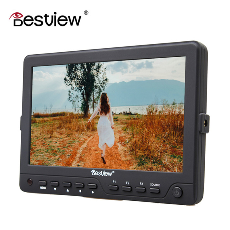 DIGITALFOTO BESTVIEW professional DSLR camera HDMI 3G Input 1280*880 TFT field 7 inch HD monitor video for camera 5d 6d 7d