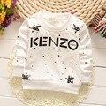 2016 del otoño del Resorte nuevos muchachos de la ropa 0-4 años de edad los niños de Algodón de manga larga Camiseta de los niños capa de la chaqueta bebé ropa infantil