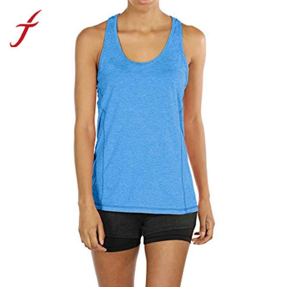 ef16d0324dd9d ... FEITONG Women Ladies Fitness Tank Tops 2019 Summer Tops Activewear  Workouts Sportting Racerback Tank Tops Shirt ...