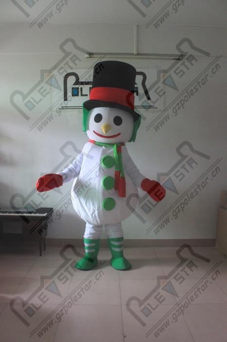 Able Hot Black Top Hat Snowman Mascot Cartoon Costume Snow Man (pack In Two Carton) Harmonious Colors