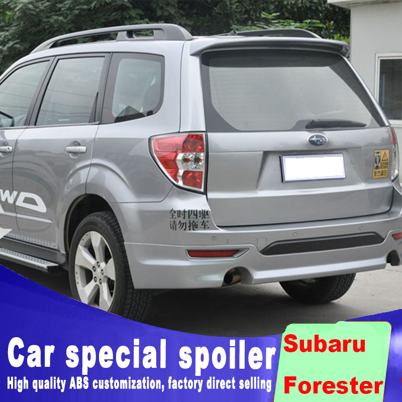 rear window roof wing spoiler for Subaru Forester 2008 2009 2010 2011 2012 big ABS spoiler primer or white black paint Forester