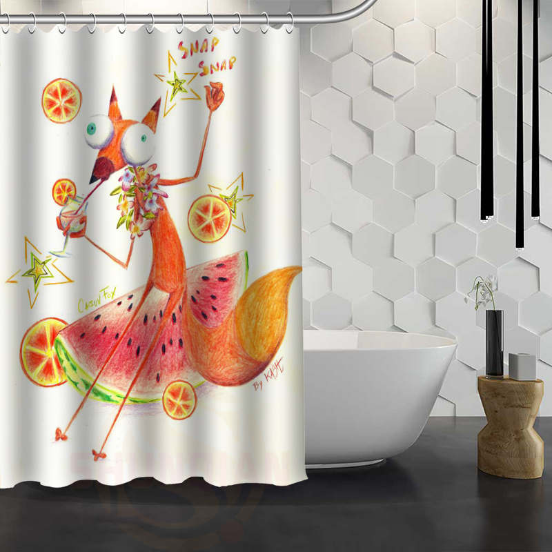 CHARMHOME Hot Sale Custom The Fox Animal Shower Curtain Waterproof Fabric Shower  Curtain For Bathroom  In Shower Curtains From Home U0026 Garden On ...