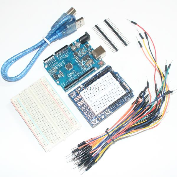 for Arduino DIY Starter Kit UNO R3 Development Board + Prototype ...