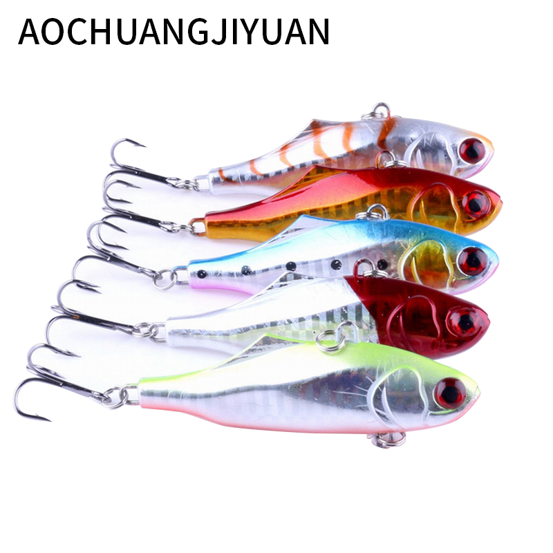 1PCS 7.5cm 24g winter VIB fishing lure hard bait with lead inside ice sea fishing tackle diving swivel jig wobbler lure promotion 6pcs cotton crib baby bedding sets piece set crib set 100% cotton bumpers sheet pillow cover