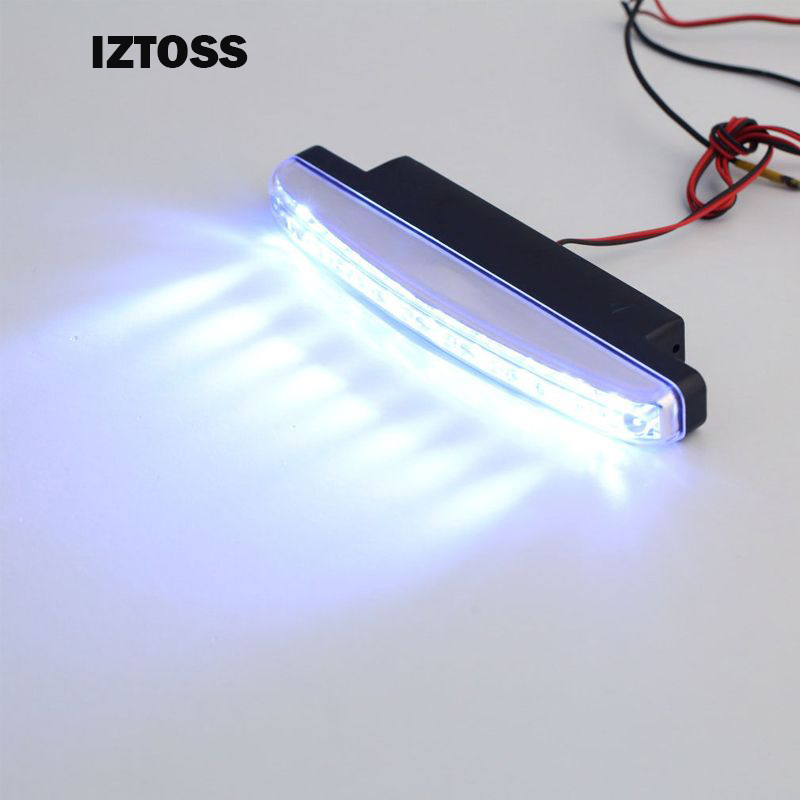 Car-styling 8LED Daytime Running Light Cars DRL The Fog Driving Daylight Head Lamps For Automatic Navigation Lights White