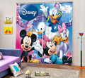 2017 de la Historieta 3D Mickey Minnie Mouse Patrón de Cortina de Ventana de la Sala de Cortina Blackout Niños Personalizados Envío Libre de DHL