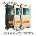Amo mei mk2 tampa de alumínio do metal caixa do telefone para samsung galaxy Aleta De Couro 2 EM 1 Capa Case note5 note5 n9200 à prova de choque casos