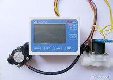 Новый G1/2 «Управление Потоком Воды ЖК-Дисплей + Датчик Электромагнитный Клапан + Датчик Потока Метр