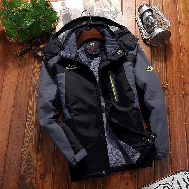c2804da38 9XL Outdoor Hiking Jackets Men Winter Large Size Mountain Travel ...