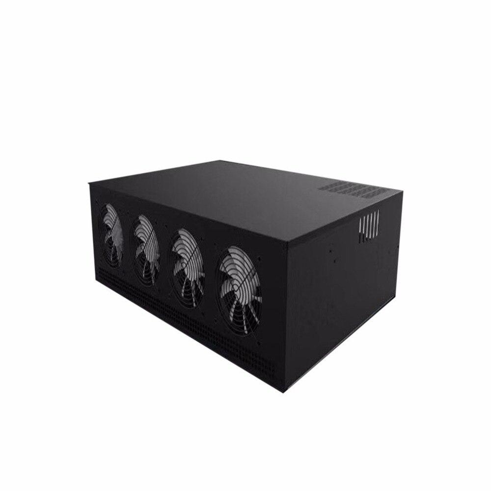 8 Графика сервера 1 сервер нового поколения шасси одного ATX Питание с 7 Вентилятор охлаждения 8GPU горной машины шасси