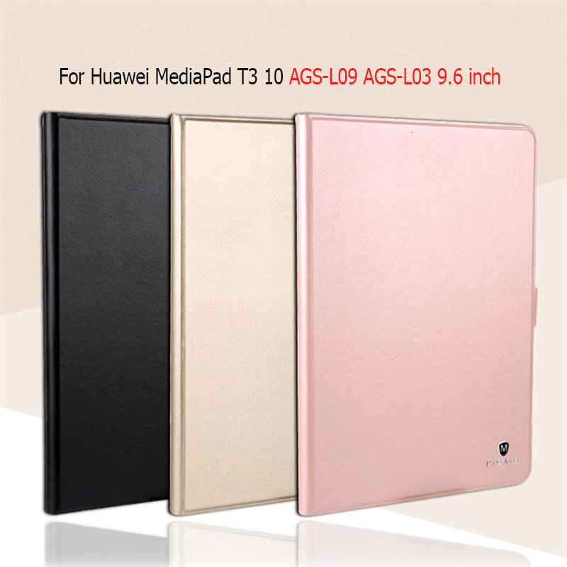 Luxury Smart Case For Huawei MediaPad T3 10 AGS-L09 AGS-L03 9.6 inch Tablet Funda Cover for Huawei MediaPad T3 10 Case luxury business case for huawei mediapad t3 10 ags l09 ags l03 9 6 inch cover funda tablet leather hand belt holder stand shell