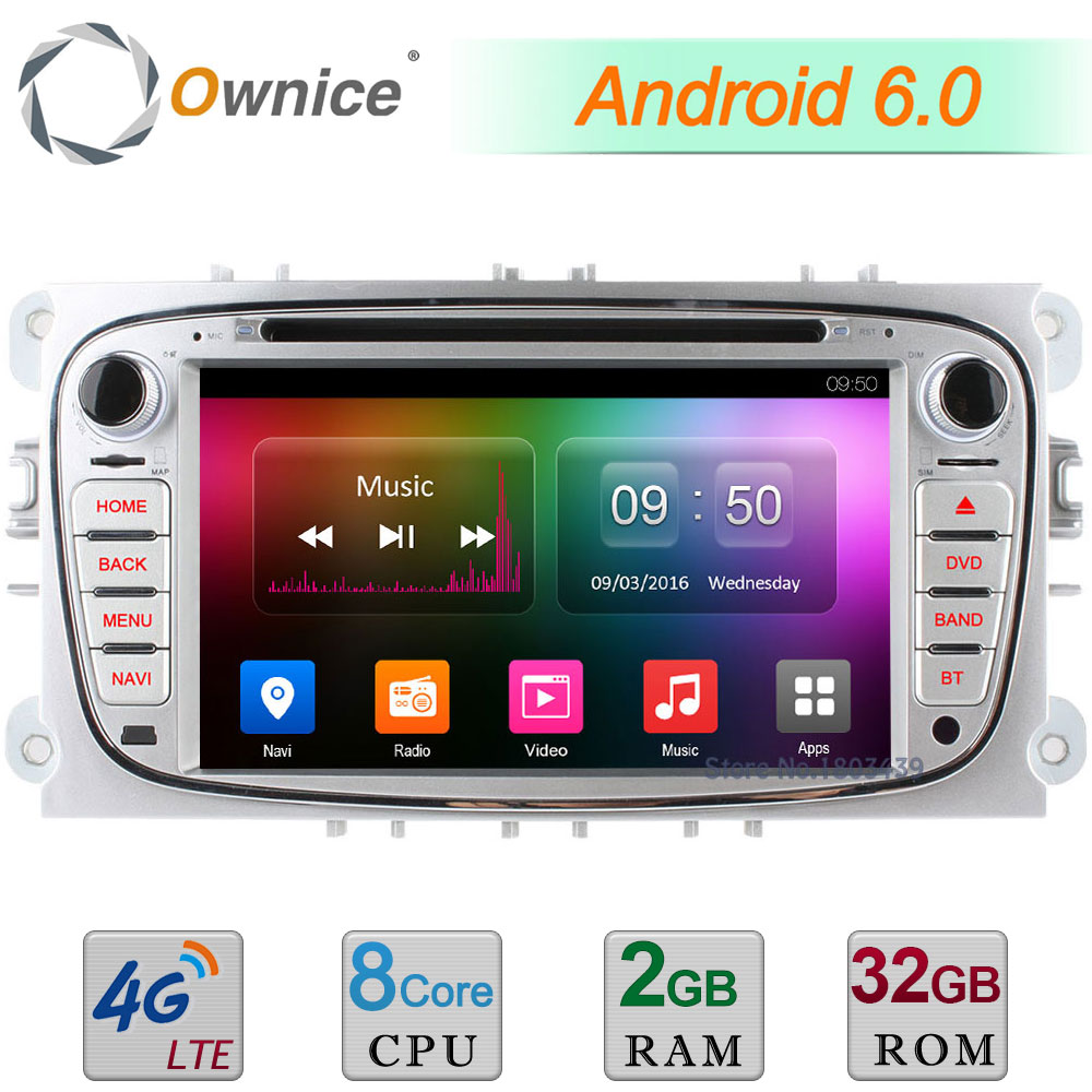 Android 6.0 2GB RAM 32GB ROM Octa Core 4G WIFI DAB AUX Car DVD Player For Ford S-max Galaxy Tourneo Transit Connect Focus Mondeo