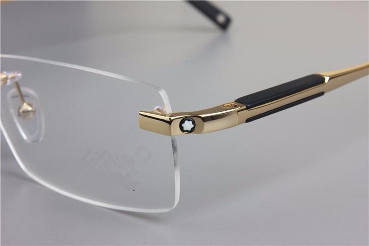 0837bddd49c Free shipping Rimless Glasses Wide Spectacle Men Square eyeglasses frames  reading glasses prescription lens optical frame M0349 -in Sunglasses from  Men s ...