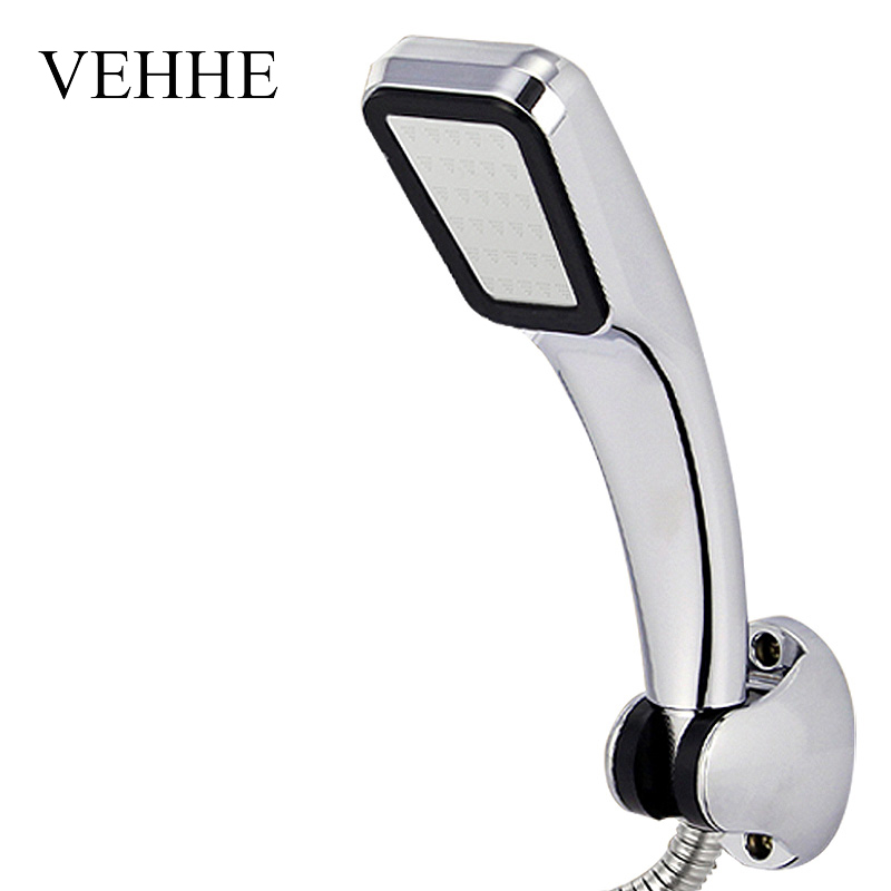 VEHHE New 300 Holes Hand Shower Head High Pressure With Chrome-plate Panel Streamline Water SavingHandhold Showerhead  VE223 ...