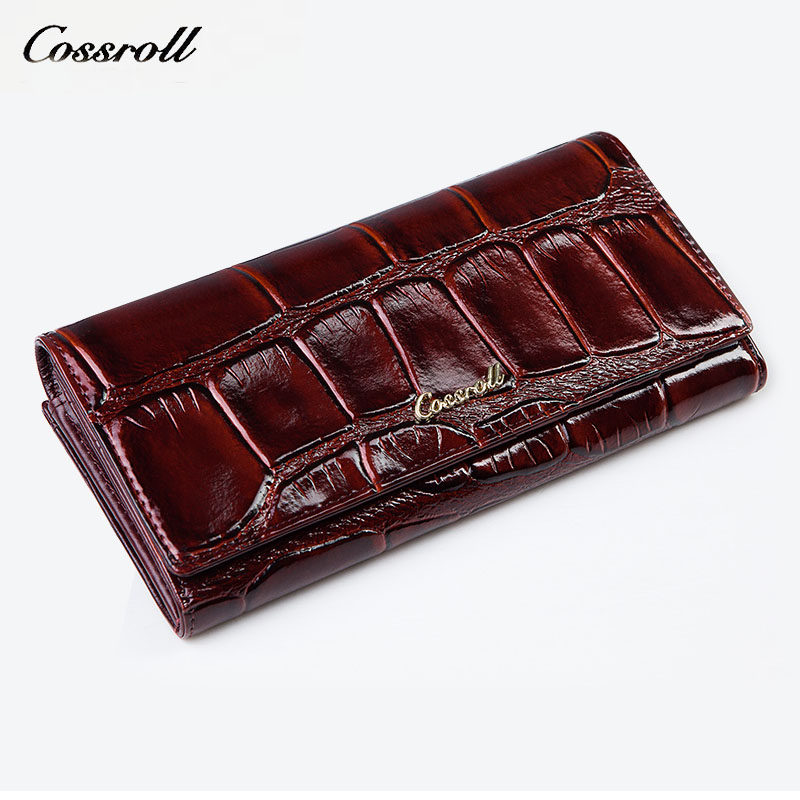 women wallet 2018 fashion women wallets genuine leather women's wallet long leather wallet female purse genuine leather women's qiwang fashion women wallets snake pattern leatherl wallet purse for women real leather hole design female long wallet women