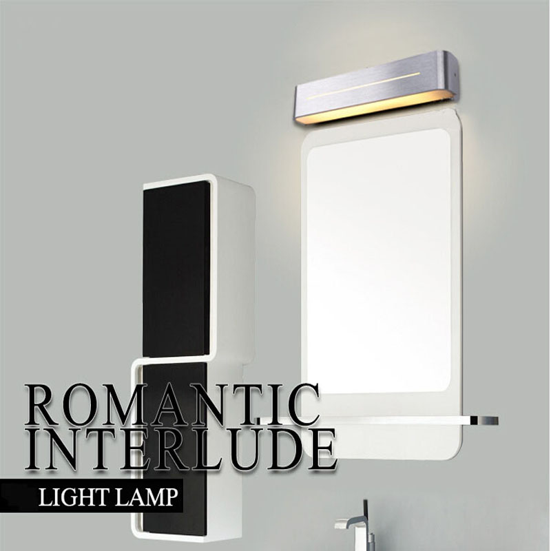 Mirror headlight led bathroom toilet lamps modern minimalist mirror lamp waterproof fog lamp wall lamp make-up lighting fixture zx modern acryl led mirror wall lamp waterproof and anti fog cabinet mirror light bathroom toilet dressing room make up lamp