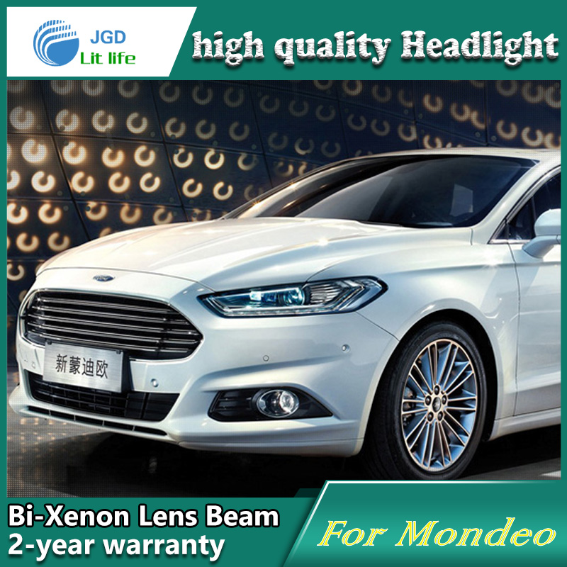 Car Styling Head Lamp case for Ford Mondeo 2013-2015 Headlights LED Headlight DRL Lens Double Beam Bi-Xenon HID car Accessories car styling head lamp case for ford ecosport 2013 headlights led headlight drl lens double beam bi xenon hid car accessories