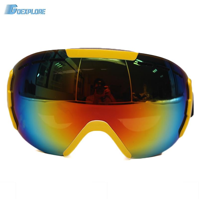 Prix pour Dropshipping Ski Lunettes Double Anti-brouillard Ski Lunettes de Neige Sport Ski Objectif Clair Miroir de L'alpinisme Motoneige neige lunettes