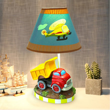 Car Table Lamp Children's Handmade Resin Creative Decoration Lighting Bedroom Dimmer Light Lamp Cartoon Cute Desk Lamp best gift