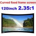 Grande tela de projeção Multimídia de 120 polegadas 2.35: 1 Full HD Manual Curvo Quadro Fixo da Tela de Projeção projetor para cinema