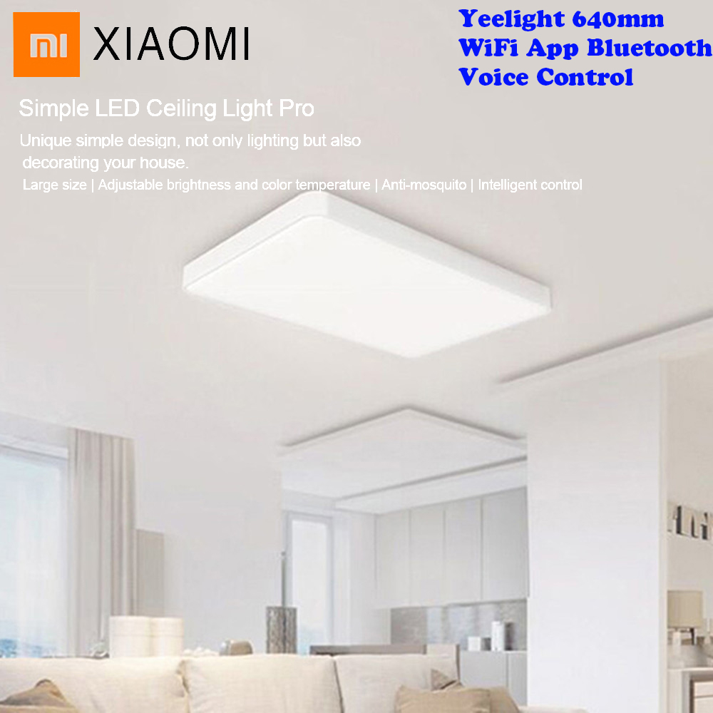 Xiaomi Yeelight Pro JIAOYUE 640mm Simple LED Ceiling Light WiFi App Bluetooth Smart Voice Remote Control For Living Room LightXiaomi Yeelight Pro JIAOYUE 640mm Simple LED Ceiling Light WiFi App Bluetooth Smart Voice Remote Control For Living Room Light
