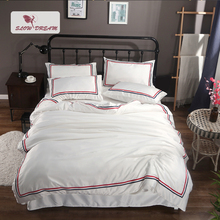 SLOWDREAM Bedding Set Luxury Double Linens Euro Flat Sheets Bedspread Duvet Cover Comforter Adult Queen King Size Bed Linen Set [available with 10 11] linens euro 2565821