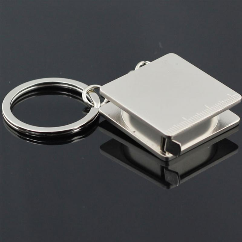 New Alloy Creative Practical Tape Measure Keychain Key Chain Ring Keyring Key Fob Holder