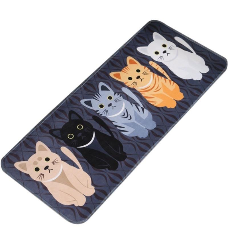 Mats Cartoon Animal Cat Printed Bathroom Kitchen Absorbent Carpets Modern Simplicity Comfortable Skin-friendly 2017 new