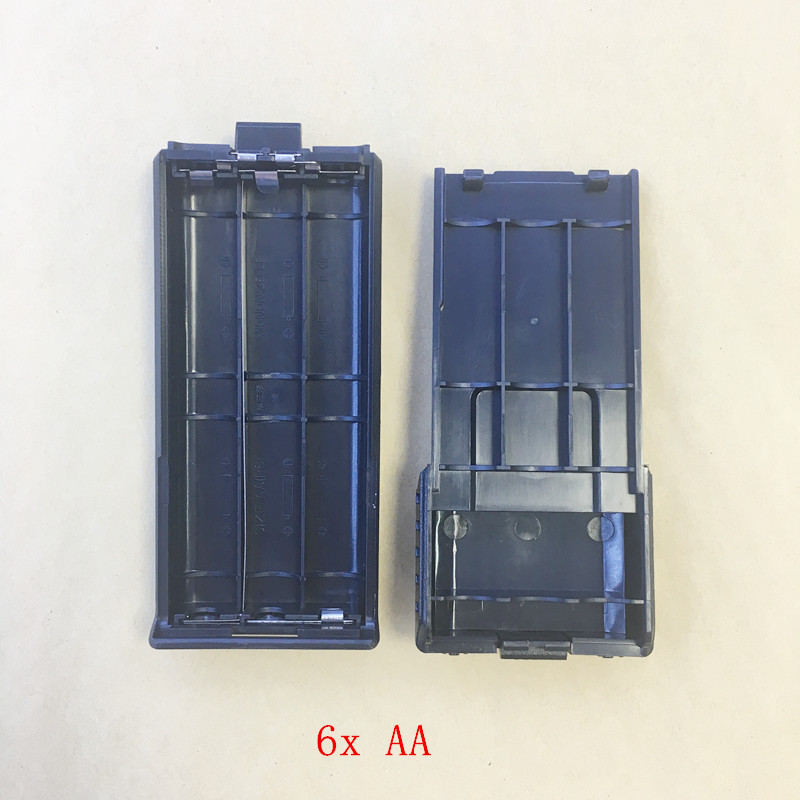 Original 6x AA Long Battery Case Box For Baofeng BF-UV5R UV5RE UV5RA UV5RPLUS UV5RB Etc Walkie Talkie Two Way Radio