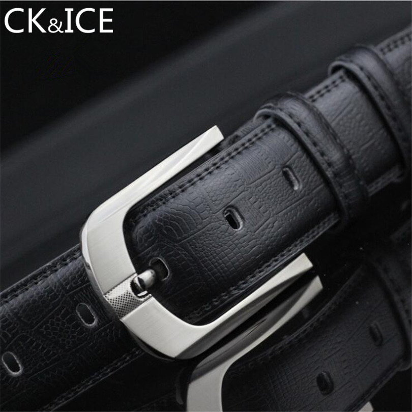 CK&ICE 100% Cowhide Genuine Leather Belts for Men Luxury Fashion Brand Designer Men's Pin Buckle Men High Quality Jeans Strap